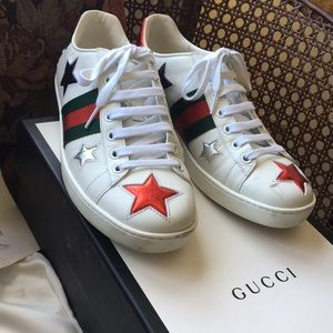 """GUCCI """"Moro's"""" star sneakers. Size 7 Authentic,"""